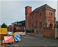 SK5640 : The Ropewalk: former pump house by John Sutton