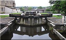 SE1039 : Three Rise Locks, Bingley by michael ely