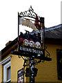 TM1074 : The Railway Tavern Public House sign by Adrian Cable