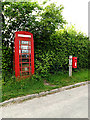 TM0875 : Telephone Box & Sycamore View Postbox by Adrian Cable