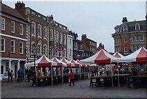 SK7953 : Market square, Newark by Andrew Hill