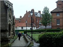 SK7953 : Path by the church, Newark by Andrew Hill