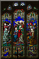 SK8791 : Stained glass window, St Laurence's church, Corringham by J.Hannan-Briggs