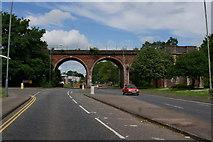SO8454 : Rail bridge on Hylton Road,  Worcester by Ian S