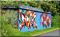 J3470 : Graffiti, Lagan towpath, Stranmillis, Belfast (May 2014) by Albert Bridge