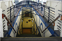 TQ2575 : Wandsworth Town station - stairs to subway by David Kemp