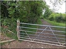 SX6497 : Gate on Devonshire Heartland Way by David Smith