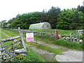 NZ1303 : Nissen hut off Sturdy House Lane by Oliver Dixon