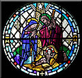TG2608 : St Andrew, Thorpe St Andrew - Stained glass window by John Salmon