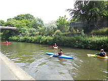 TQ2783 : Canoeing on Regent's Canal by Paul Gillett