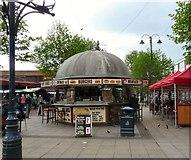 SJ9399 : Food stall on Ashton Market by Gerald England