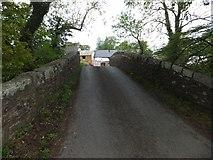 SX6599 : Pecketsford Bridge over River Taw by David Smith