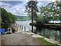 NY3701 : Low Wray Bay, Landing Stage at Wray Castle by David Dixon
