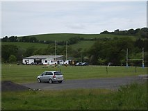 SS6501 : Rugby field and clubhouse, North Tawton by David Smith