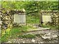 SD4199 : Kissing Gate and Memorial Tablets on the Path To Orrest Head by David Dixon