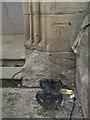 SK2523 : 1GL bolt bench mark, Riverside Church, High Street by Alan Murray-Rust