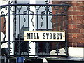 TQ7555 : Vintage street nameplate, Mill Street, Maidstone by Chris Whippet