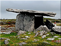 M2300 : County Clare - R480 - Poulnabrone Dolmen (3500 BC) - View to Southeast by Suzanne Mischyshyn