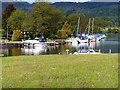 SD3786 : River Leven, Moorings at Newby Bridge by David Dixon