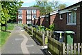 SP0767 : Three-storey, one-storey – a walk off Winslow Close, Winyates East, Redditch by Robin Stott