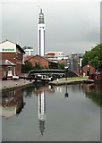 SP0686 : Birmingham's BT Tower with reflection by Neil Theasby