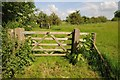 SP1248 : Numbered gate on a footpath by Philip Halling