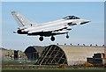 NJ1969 : A Typhoon at RAF Lossiemouth by Walter Baxter