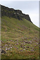 NM4990 : Cliffs, Scree and Boulders by Anne Burgess