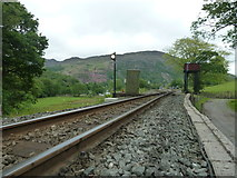 SH5848 : Looking towards Beddgelert Station by Peter Bond