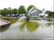 SJ3384 : Fountain, Port Sunlight by Oliver Dixon