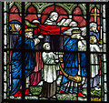 SK9771 : Detail of stained glass window, Lincoln Cathedral by J.Hannan-Briggs
