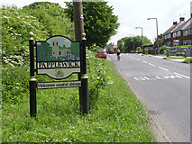 SK5451 : Papplewick village sign on Linby Lane by Alan Murray-Rust