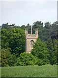 SK5451 : Papplewick church tower by Alan Murray-Rust