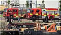 J3474 : Fire appliances and ambulances, Donegall Quay, Belfast - June 2014(2) by Albert Bridge