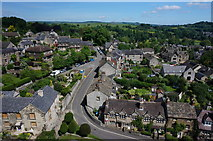 SK2168 : North Church Street, and Church Lane, Bakewell by Peter Barr
