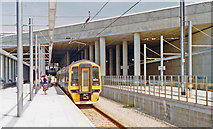 TL5523 : Stansted Airport station, 1992 by Ben Brooksbank