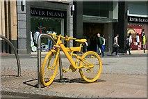 SK3587 : Yellow bikes promoting 'Le Grand Départ' : Fargate by Graham Hogg