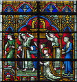 SK9771 : Detail, Stained glass window s.35, Lincoln Cathedral by J.Hannan-Briggs