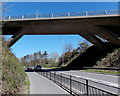 SM9514 : South side of a bridge over  the A4076 Freemans Way, Haverfordwest by Jaggery