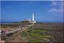 NZ3575 : St Mary's Lighthouse, Whitley Bay by Paul Buckingham