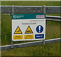 NZ4719 : A misspelt sign at  Portrack Oufall by Ian S