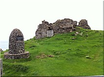 NG4074 : The remains of Duntulm Castle by Andrew Abbott