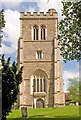 TL2308 : Tower, Church of St Etheldreda, Old Hatfield by Julian Osley