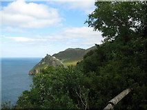 SS7049 : Duty Point Tower to the Valley of Rocks-North Devon by Martin Richard Phelan