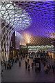 TQ3083 : Interior of King's Cross Station, London N1 by Christine Matthews