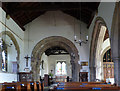 SK6754 : Church of St Michael, Halam - nave interior by Alan Murray-Rust