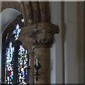 SK6754 : Church of St Michael, Halam - chancel arch capital by Alan Murray-Rust