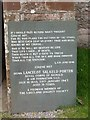 NY1700 : Memorial stone at St Catherine's church, Boot by David Purchase