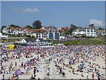 SW8031 : Gyllyngvase Beach Falmouth by Rod Allday