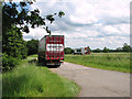TF9112 : Lorry in layby beside the A47 road by Evelyn Simak